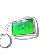 double sided real 3d photo holograph hologram keyring laser holographic image