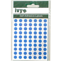 980 Sticky Blue 8mm Labels Dots Round Circles Self Adhesive Stickers by IVY - $7.20