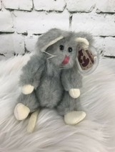 """Ty Attic Treasures SQUEAKY 1993 Gray Mouse 7"""" Tall Retired Fully Jointed - $9.89"""