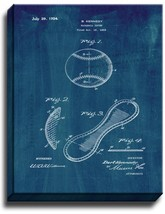 Baseball Cover Patent Print Midnight Blue on Canvas - $39.95+