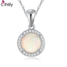 White Fire Opal Cubic Zirconia Silver Pendant Wholesale Fashion Wedding ... - $14.97
