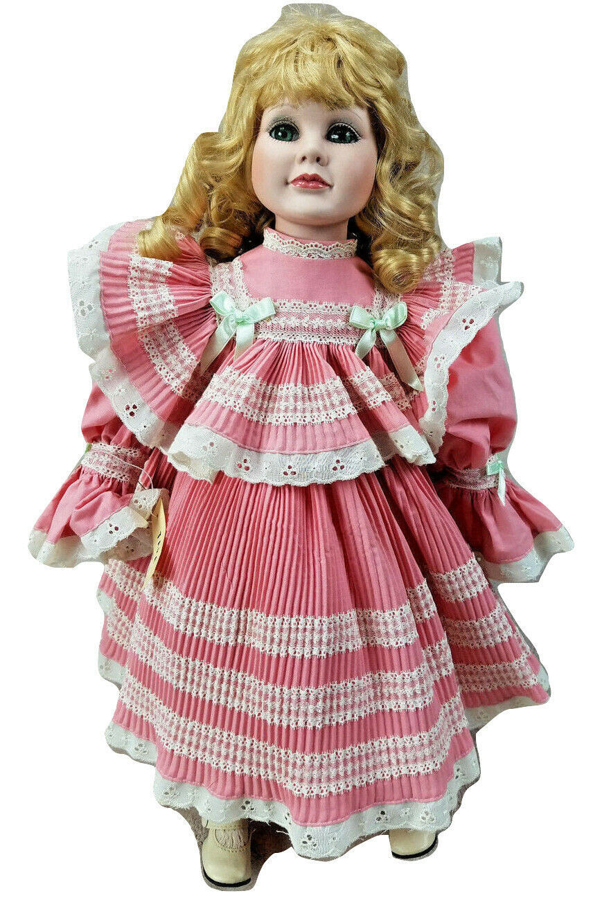 """Seymour Mann Connoisseur Doll Collection 20"""" Tara Porcelain Doll with Wood Stand - $19.24"""