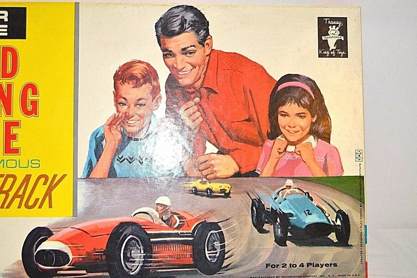 Transogram Rare Four Lane Road Racing Game on the Famous Sebring Track 1963  image 4
