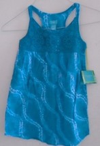 GIRL'S DRESS Cover Up Teal White CALYPSO ST BARTH  Racerback 6/6x Summer... - $9.49