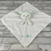 Baby Starters White Lamb I am Loved Lovey Blanket Infant Nursery Satin Lining - $17.35