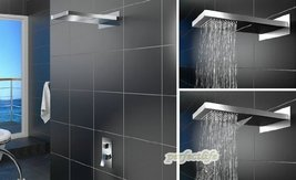 Luxury 22-inch Shower Head Wall Mount Rainfall Bathroom Double-function Shower F - $692.95