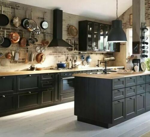 """Ikea Laxarby CABINET DOOR Black Brown Sektion kitchen 21"""" X 40"""" 202.680.45 image 4"""