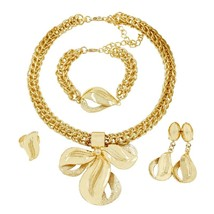 2019 Anniversary Commemorate 18 Gold Jewelry Sets Necklace Bracelet Ring... - $42.98
