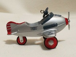 Hallmark airlplane Christmas Ornament silver no box 1996 - $9.49
