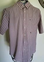 Tommy Hilfiger Brand ~ Mens' Size Medium ~ Plaid ~ Button Up Shirt ~ 100... - $23.76