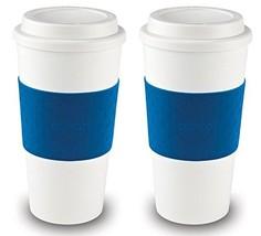 Copco Acadia Reusable To Go Mug, 16-ounce Capacity - Blue 2 Pack - $19.40