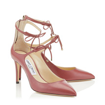 New JIMMY CHOO SAGE Size 8.5 Vintage Rose Tie Front Heels Pumps Shoes NI... - $398.00