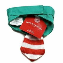 NEW Christmas Cat Collar with Tie Green Red Striped Holiday Pet Costume new image 3