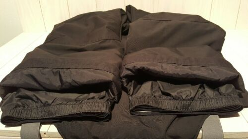 Lands End Mens Ski Snow Bibs Size XL Black with Adjustable Suspenders Insulated