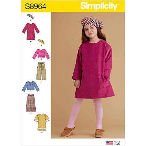 Simplicity Sewing Pattern R10258 / S8964 - Children's Dresses, Tops, Pants, and  - $4.93
