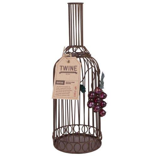 Wine Cork Holder, Wrought Iron Grapevine Decorative Metal Rustic Cork Holder