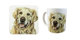 2 tlg Set verpackt Golden Retriever Hund Welpe Made UK Keramiktasse Kanne & - $23.30