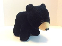 Vintage FAIRWAY Black Bear 7in Plush Stuffed Animal Toy Made in Korea - $20.56