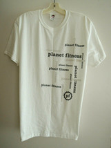 T Shirt Size M - PLANET FITNESS Logos On White S/S Tee Shirt Top Promo NWOT - $12.99