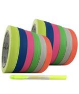 Grey Parrot Tape UV Blacklight Reactive, 12 Pack, 6 Colors, 66' per Color - $20.79