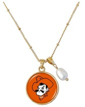 Oklahoma State Cowboys Diana Gold and Pearl Saturn Necklace Jewelry Gift... - $16.82