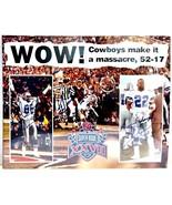 Dallas Cowboys Emmit Michael Irvin Jay Novacek Signed Super Bowl XXVII P... - $199.99