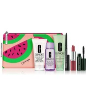 Clinique 7 Pc Set MIld soap Love Pop Lip Remover Mascara Eye Liner Moisturizer - $22.76
