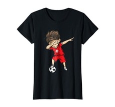 Sport Shirts - Dabbing Soccer Boy Tunisia Jersey Shirt - Tunisian Football Wowen - $19.95+
