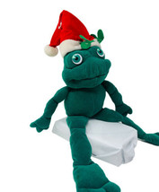 "Vtg Applause Stuffed Christmas Mistletoad Frog 11"" Stuffed Animal in Santa Hat - $12.99"