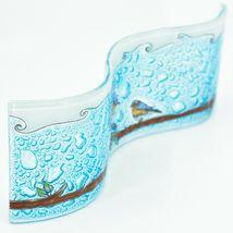 Fused Art Glass Bluebirds Birds on Branch Wavy Sun Catcher Handmade Ecuador image 5