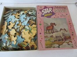 VINTAGE 1955 PLATT & MUNK JIGSAW STAR JUNIOR PUZZLE #155D WILD SHEEP INC... - $4.00