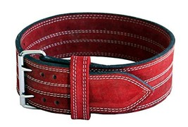 "Ader Leather Power Lifting Weight Belt- 4"" Red XX Large - $35.47"