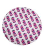 Purple Round Pineapple Tapestry Outdoor Beach Towel Picnic Blanket - $19.70 CAD