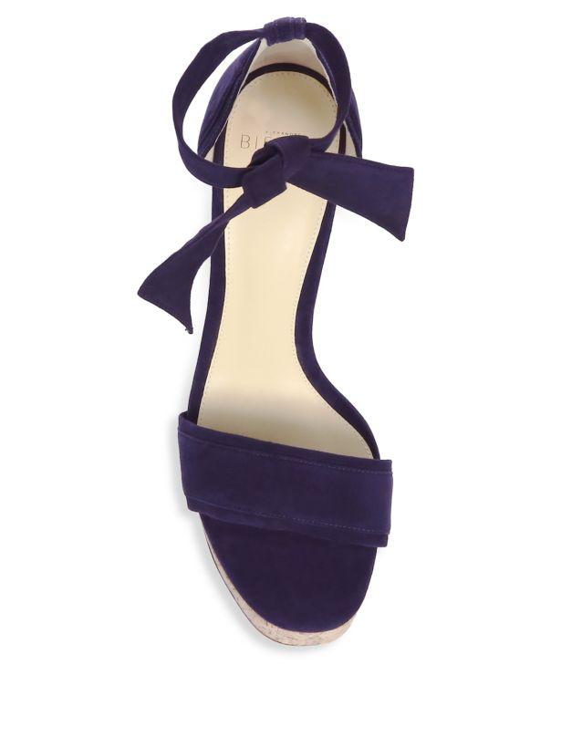 Alexandre Birman Celine Suede Platform Sandals 40.5