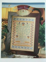 StitchWorld X-Stitch Antique Sampler Cross Stitch Pattern Birds Flowers - $4.00
