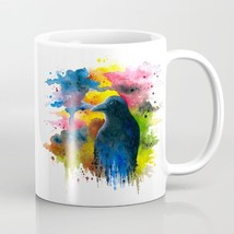 Coffee Mug Cup 11oz or 15oz Made in USA Bird 71 Crow Raven colorful art ... - $19.99+