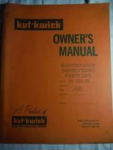 Kut-Kwick JV 1001-31 mower tractor original owner's operators parts manual *rare - $16.41