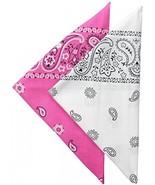 Levi's Men's Printed Bandana Set,Pink/White,One Size - $12.88