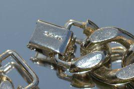 True Vtg NAPIER Heavy Link stainless steel Bracelet ''NICE'' image 5