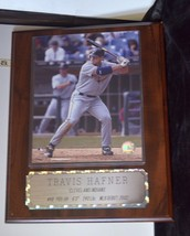 Collectible Sports MLB Wood Wall Plaque Cleveland Indians Travis Hafner ... - $8.34