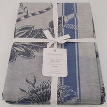 Williams Sonoma Jacobean Jacquard Tablecloth in Blues 70x90 Cotton/Linen - $99.90