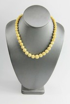 "16"" VINTAGE ESTATE CHINESE HAND CARVED BOVINE BONE GRADUATED BEAD NECKLACE - $75.00"