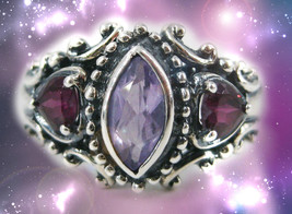 HAUNTED ANTIQUE RING THE MOST CHARMED LUCKY LIFE GOLDEN ROYAL COLLECTION... - $607.77