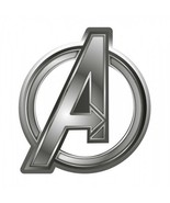 Marvel Comics The Avengers A Logo Image Metal Silver Toned Pewter Lapel Pin NEW - $7.84