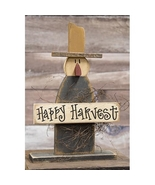 """Happy Harvest Wooden Scarecrow On Base 19"""" Tall - $32.99"""