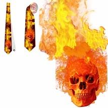 necktie fire skull fireman macho  tietie - $22.00