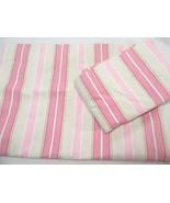 Pottery Barn Kids Shelby Stripe Pink Cream 2-PC 88 x 63 Lined Drapery Pa... - $52.00