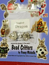 VINTAGE DRAGON BEAD CRITTERS BEAD WRAP BY PENNY MICHELLE 1995 SILVERTONE image 3