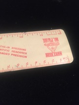 "Vintage 50s aluminum 12"" rulers - promo / giveaway (Gambles and Trojan Seed Co) image 6"