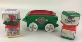 Fisher Price Peek A Blocks Press & Go Christmas Train Car Piece 2004 Mat... - $34.60